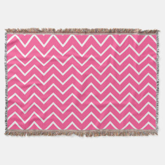 Pink Chevron Pattern Throw Blanket
