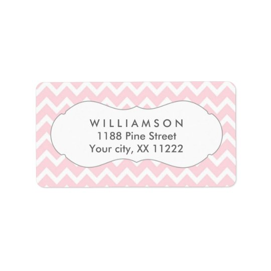 pink chevron personalized party favour tags