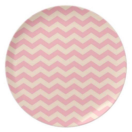Pink Chevron Party Plates