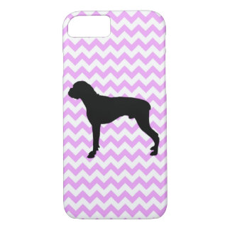 Pink Chevron With Boxer iPhone 7 Case