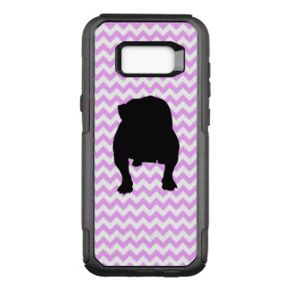 Pink Chevron With English Bulldog OtterBox Commuter Samsung Galaxy S8+ Case
