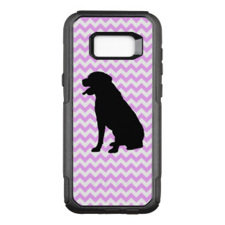 Pink Chevron With Lab Silhouette OtterBox Commuter Samsung Galaxy S8+ Case