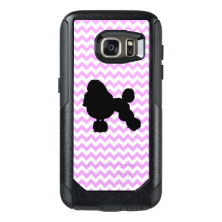 Pink Chevron With Poodle OtterBox Samsung Galaxy S7 Case