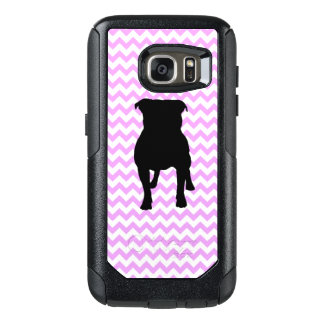 Pink Chevron With Pug Silhouette OtterBox Samsung Galaxy S7 Case