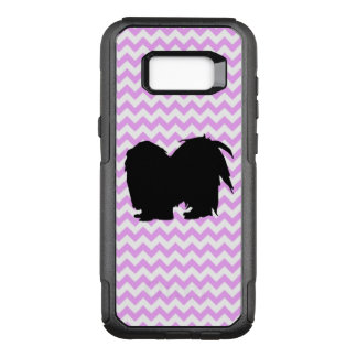Pink Chevron With Shih Tzu Silhouette OtterBox Commuter Samsung Galaxy S8+ Case