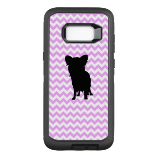 Pink Chevron With Yorkie Silhouette OtterBox Defender Samsung Galaxy S8+ Case