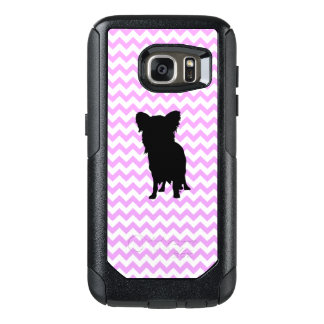 Pink Chevron With Yorkie Silhouette OtterBox Samsung Galaxy S7 Case