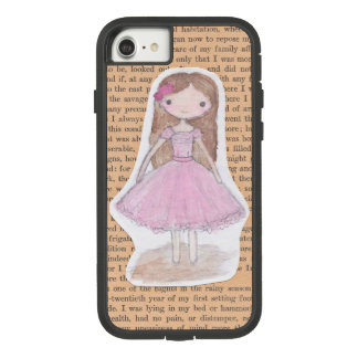 Pink Chibi Ballerina Watercolor Girl Phone Case