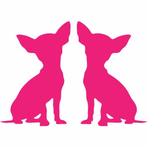 Pink Chihuahua Cute Silhouette Sculpture Gift Photo Cut Outs Zazzle