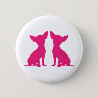 Pink Chihuahua dog cute button, pin, gift idea 2 Inch Round Button