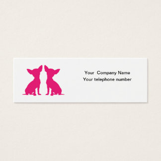 Pink Chihuahua dog cute silhouette business card