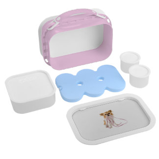 Pink Chihuahua Lunch Box for Girls