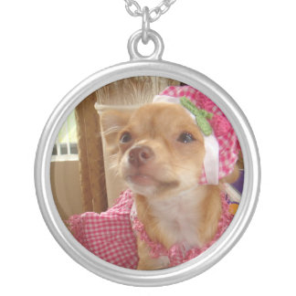 pink chihuahua necklace