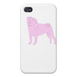 Pink Chinese Pug iphone Hard Case iPhone 4/4S Cases