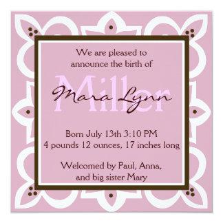 Pink, Chocolate and White Invitation