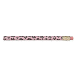 Pink Chocolate Star Peppermint Christmas Cookie Pencil