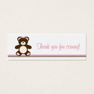 Pink Chocolate Teddy Bear Favor Gift Tags