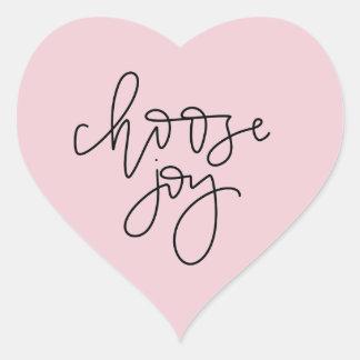 "Pink ""Choose Joy"" Calligraphy Sticker"