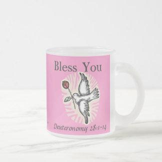 Pink Christian 10 Oz Frosted Glass Coffee Mug