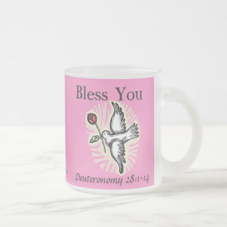 Pink Christian Frosted Glass Mug