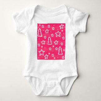 Pink Christmas Baby Bodysuit