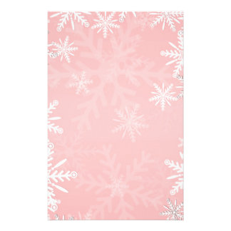 Pink Christmas Customized Stationery