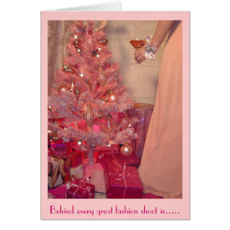 Pink Christmas Toast turns to Reality Card