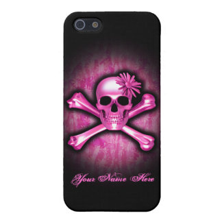 Pink Chrome Skull iPhone 5/5S Case