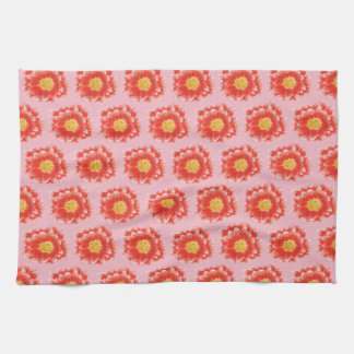 Pink Chrysanthemum Flower Kitchen Towel