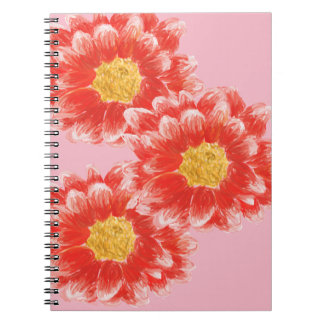 Pink Chrysanthemum Flower Photo Notebook