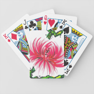 Pink Chrysanthemum Flower Playing Cards