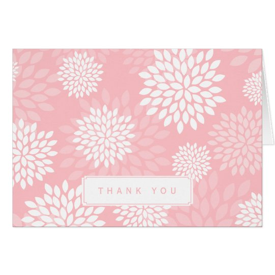 Pink Chrysanthemums Floral Pattern Card