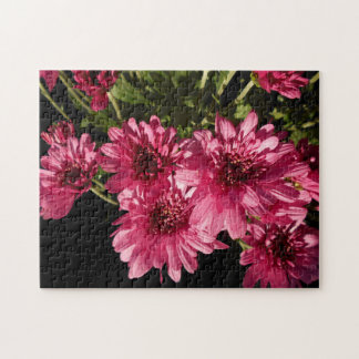 Pink Chrysanthemums Jigsaw Puzzle