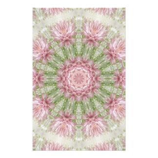 Pink Chrysanthemums Kaleidoscope Art 7 Stationery