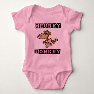 Pink Chunky Monkey Cute Baby One-Piece Baby Bodysuit