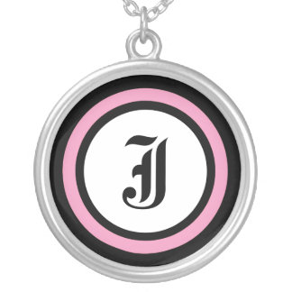 Pink Circle Initial Jewelry