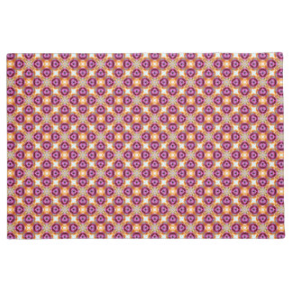 Pink Circles Cream Squares Retro Pattern Doormat