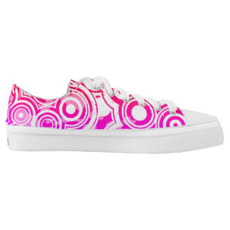 Pink Circles Low-Top Sneakers