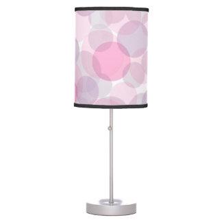 Pink circles pattern table lamp