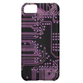 Pink Circuit Board iPhone 5C Cover