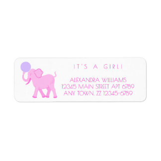 Pink Circus   Baby Girl Adorable Personalize It Return Address Label
