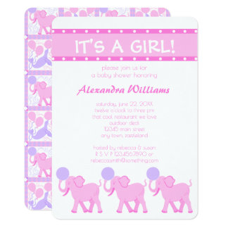 Pink Circus | Baby Shower Its A Girl Adorable Card