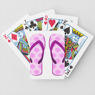 Pink Clam Flip Flops Bicycle Playing Cards