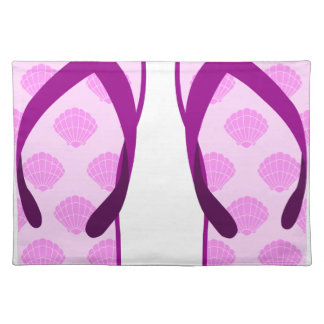 Pink Clam Flip Flops Placemat