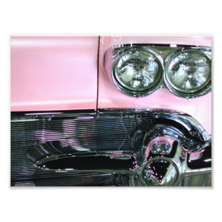 Pink Classic Car Photograph