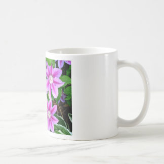Pink Clematis  and wild Oregano Coffee Mug