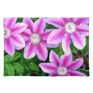 Pink Clematis  and wild Oregano Place Mats