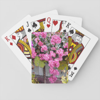 Pink Cliff Stonecrop Flowers Playing Cards