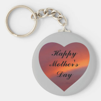 Pink cloud design Mother's Day keychain
