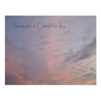 Pink Cloudy Sunset Sky Postcard